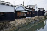 Daisen_bori, Yuasa soy sauce brewing warehouse, Historic Preservation District, Yuasa_town, Wakayama, Kinki, Japan, October