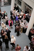 Florida, Miami, Biscayne Boulevard, Adrienne Arsht Center for the Performing Arts, Sanford and Dolores Ziff Ballet Opera House, lobby, patrons, man, w...