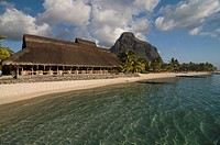 Luxury hotel at coast of Le Paradis on Mauritius Africa