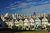 Victorian houses on Alamo Square, San Francisco, California, USA, America