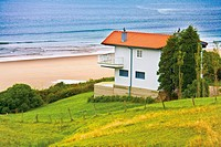 House by the beach in Comillas, Cantabria, Spain