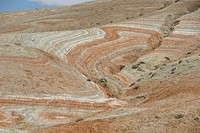Painted Desert, coloured rocks in Xizi Hills, north of Baku, Azerbaijan, Central Asia, Asia