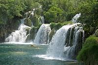 Krka tufa falls, Sibenik, Croatia, Europe