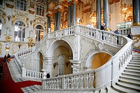 The main staircase at the Winter Palace. St. Petersburg, Russia, Europe