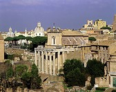 geography / travel, Italy, Rome, Roman Forum, Temple of Antoninus and Faustina, built: circa 141 AD, exterior view, cityscape, Europe, Forum Romanum, ...