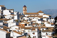Nuestra Senora del Rosario church, Algatocin, one of the white villages, Malaga province, Andalucia, Spain, Europe