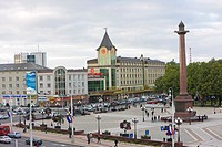 New shopping centre in the city centre, Ploshchad Pobedy Pobedy Square, Kaliningrad, Russia, Europe