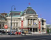 geography / travel, Austria, Vienna, theatre / theater, Volkstheater, exterior view, founded: 1889, architects: Hermann Helmer and Ferdinand Fellner, ...