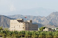 geography / travel, Oman, Palace of Jabrin, exterior view, Asia, Arabia, Orient, fort, fortress, castle, Western Hajar Mountains, building, architectu...
