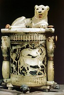 geography/travel, Egypt, cosmetics, unguent box, tomb of King Tutankhamun circa 1347 _ 1338 BC, 18th dynasty, Egyptian National Museum, Cairo, New Kin...