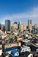 Nishi_Shinjuku skyline, Tokyo, Japan