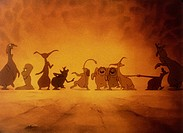 cartoon, Valhalla, DNK 1986, director: Peter Madsen, scene, movie, animated, comic strip, animation, figures,
