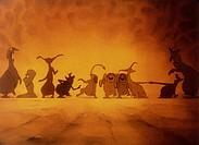 cartoon, Valhalla, DNK 1986, director: Peter Madsen, scene, movie, animated, comic strip, animation, figures,