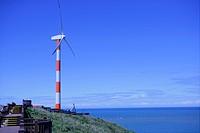 Wind turbine by sea