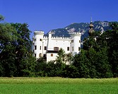 architecture, castles, Germany, Bavaria, castle Marzoll, Marzoll, conversion circa 1837, Europe, tower, towers, battlements,