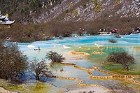 Multi_colored Pool, Huanglong, Sichuan, China