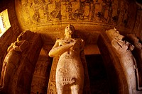 Hieroglyphics, The Great Temple, Abu Simbel archaeological site on Lake Nasser, Egypt