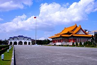 Taiwan, Taipei, Chiang Kai_Shek Memorial Hall and National Theater