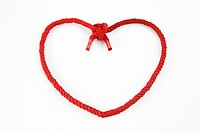 Shoelace in heart shape