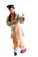 Chinese traditional opera character posing