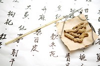 Weighing Scale with Chinese Herbal Medicine