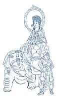 Samantabhadra Bodhisattva on a white elephant
