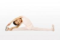 Girl performing gymnastic