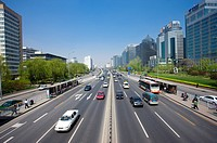 China, Beijing, Traffic on road