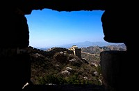 China, Jinshanling, A view through an window of The Great Wall