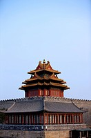 China, Beijing, a palace tower of Forbidden City