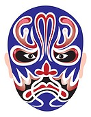 Traditional Chinese Opera Mask for the Azure Dragon of the East