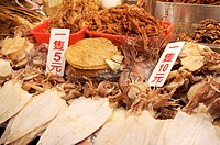 Close_up of dried squid