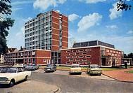 Geo hist., Deutschland, Nordrhein_Westfalen, Peine, Gebäude, Neues Rathaus, Außenansicht, 70er Jahre architektur zeittypisch, pkw parken parkplatz aut...