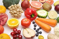 Close_up of different kinds of fruits and vegetables