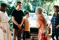 Film, Marvins Töchter Marvin´s Room, USA 1997, Regie: Jerry Zaks, Szene mit Leonardo DiCaprio, Diane Keaton & Meryl Streep alte frau,auto di caprio