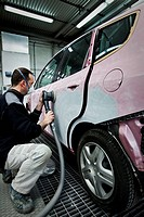 body repair shop for cars, Hospitalet, Barcelona, Catalonia, Spain