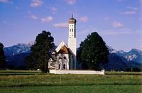 SG A, Architektur, Kirchen, 8959 Schwangau, Wallfahrts Kirche St. Koloman