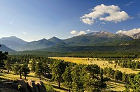 Landscape along Trail Ridge Road, Rocky Mountain National Park, Estes Park, Colorado, USA