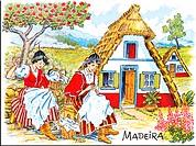 bemalte Kachel _ Madeira / painted tile _ Madeira