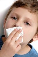 Child nose bleeding