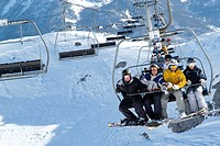 Teenagers chair lift