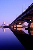 Taiwan, Taipei, Zhongxiao Bridge