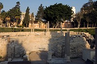 The Roman amphitheatre at Kom al_Dikka from the 4th century AD, Alexandria, Egypt