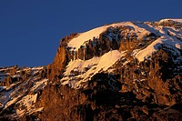 The Western Breach , snow_capped peak of Mount Kilimanjaro, Kilimanjaro National Park, Tanzania
