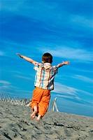 Boy beach energy