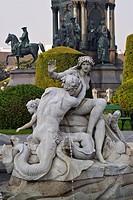 HV759116 Wien, Brunnen im Garten auf dem Maria_Theresien_Platz