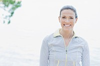 Woman in sportswear smiling