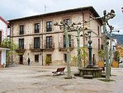 Plaza de la Verdura. Ezcaray. La Rioja. Spain.