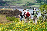 These hikers I shot at the Columbia River Gorge  Used Nikkor lens 70-200