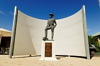 Andrew Barton Banj Paterson (author of Waltzing Mathilda) memorial at Winton, Queensland Outback, Australia